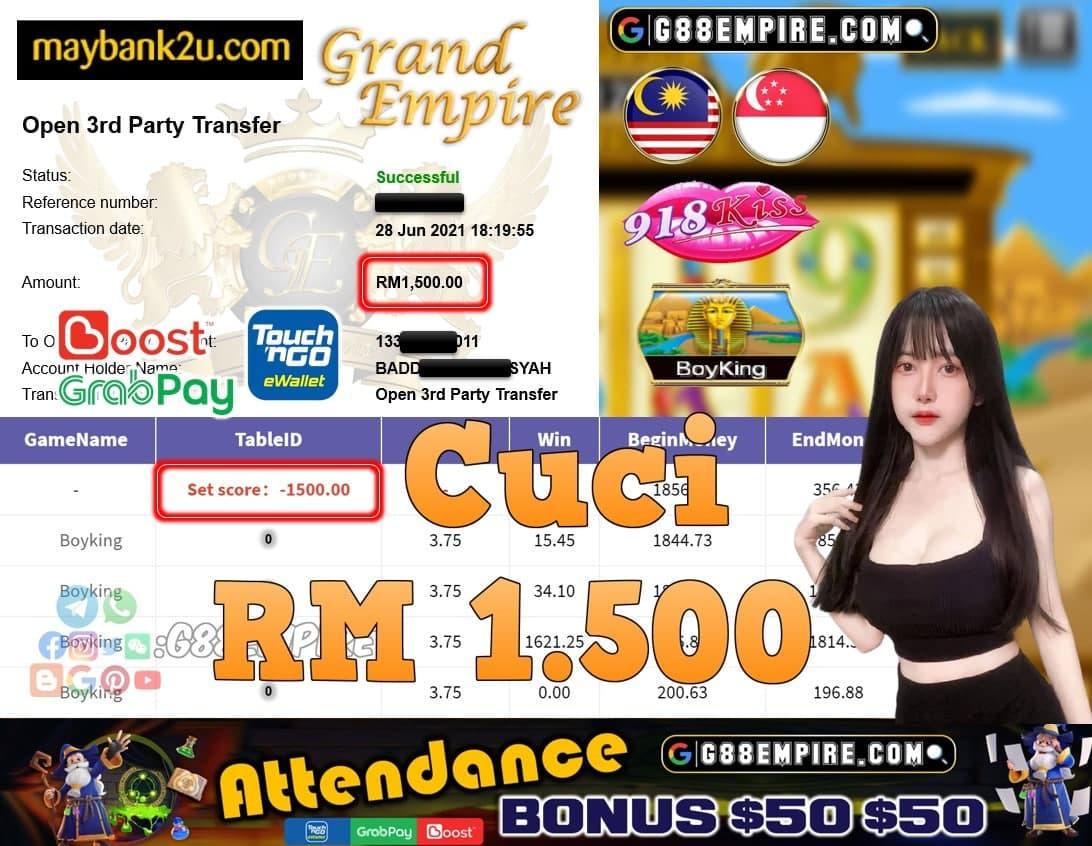 918KISS ORI - BOYKING CUCI RM1,500!!!