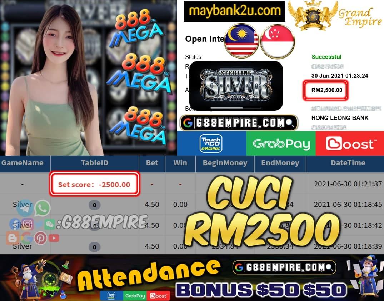 MEGA888 - SILVER CUCI RM2500 !!!