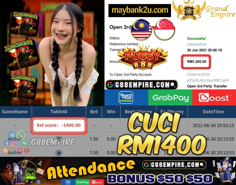 PUSSY888 - ARCHER CUCI RM1400 !!!