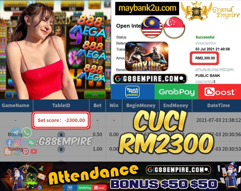 MEGA888 - BOXING CUCI RM2300 !!!