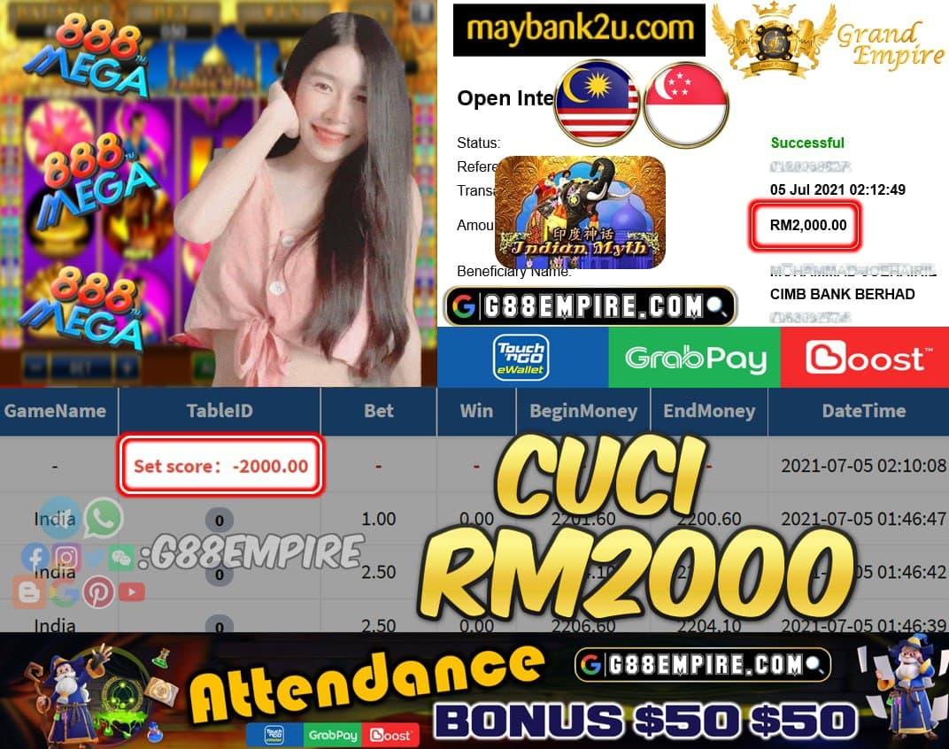 MEGA888 - INDIA  CUCI RM2000 !!!