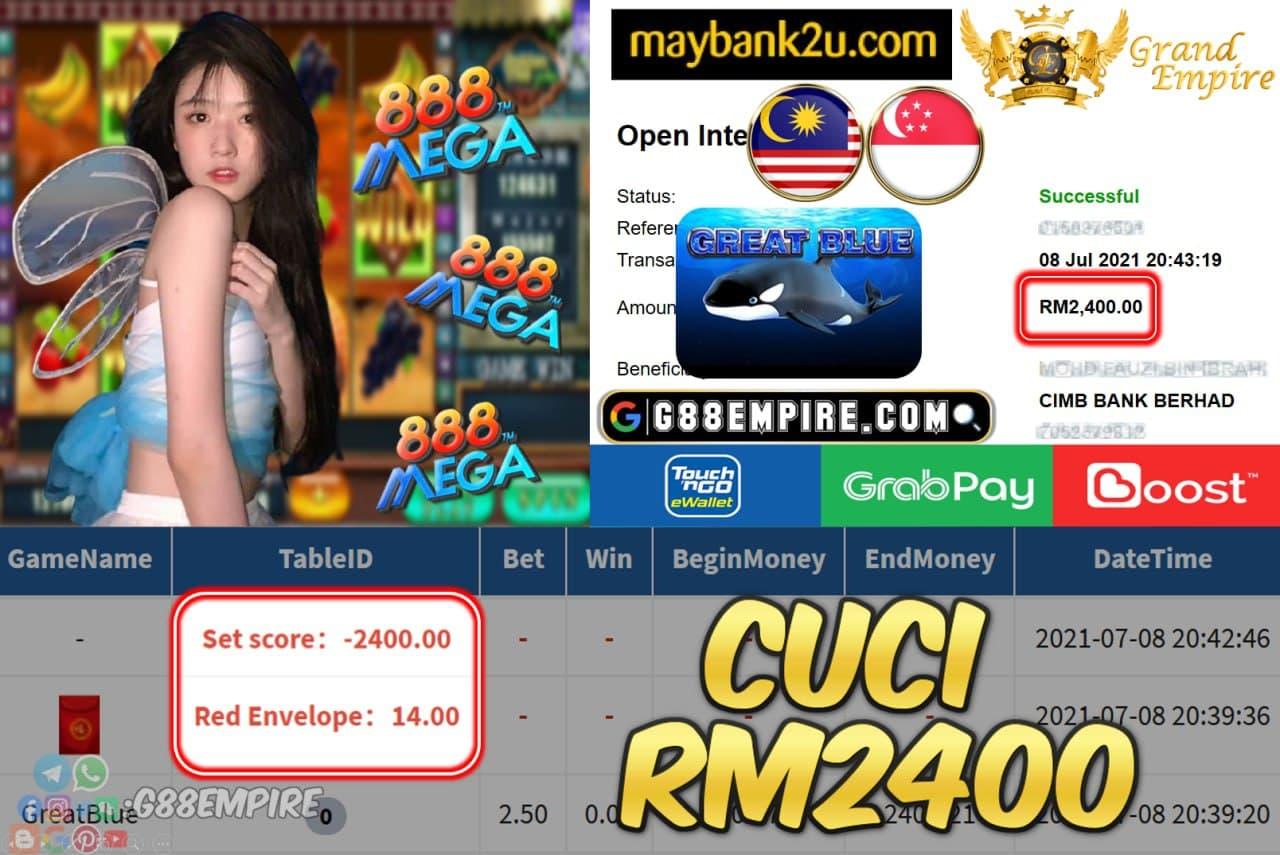 MEGA888 - GREATBLUE CUCI RM2400 !!!