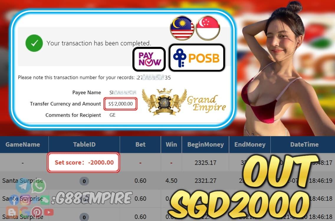 PUSSY888 - SANTASURPISE CASHOUT SGD2000 !!!