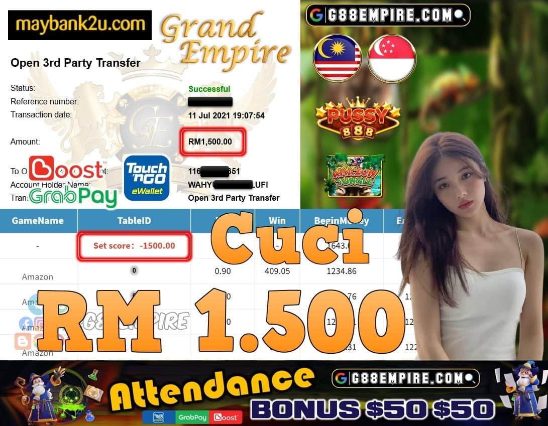 PUSSY888 - AMAZON CUCI RM1,500!!!