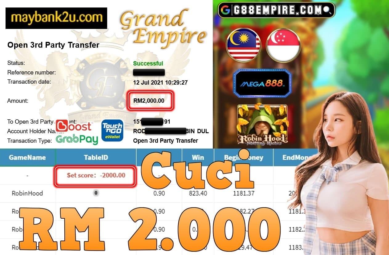 MEGA888 - ROBINHOOD CUCI RM2,000!!!