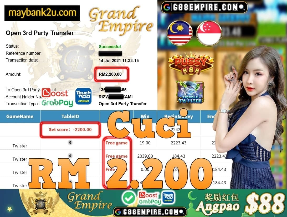 PUSSY888 - TWISTER CUCI RM2,200!!!