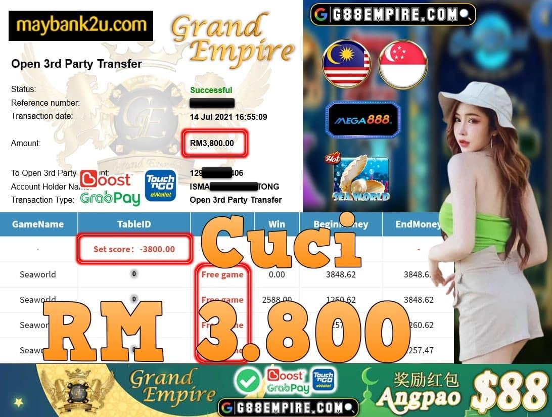 MEGA888 - SEAWORLD CUCI RM3,800!!!