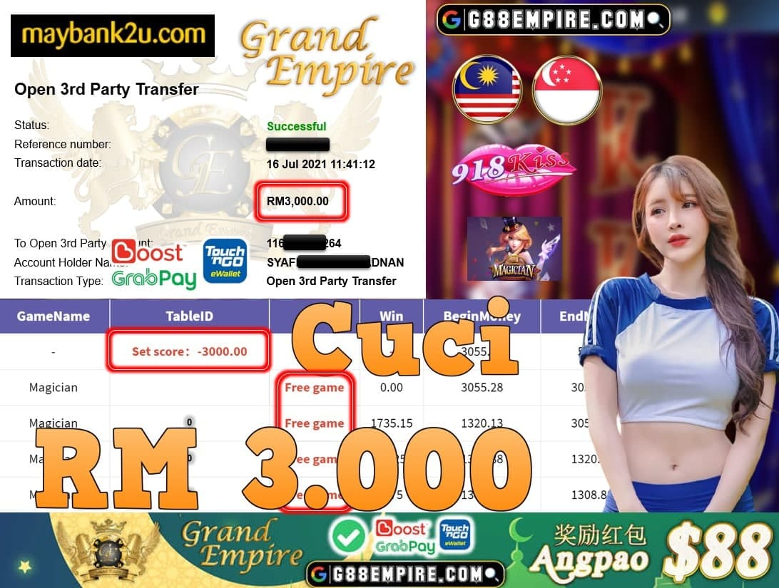 918KISS ORI - MAGICIAN CUCI RM3.000!!!
