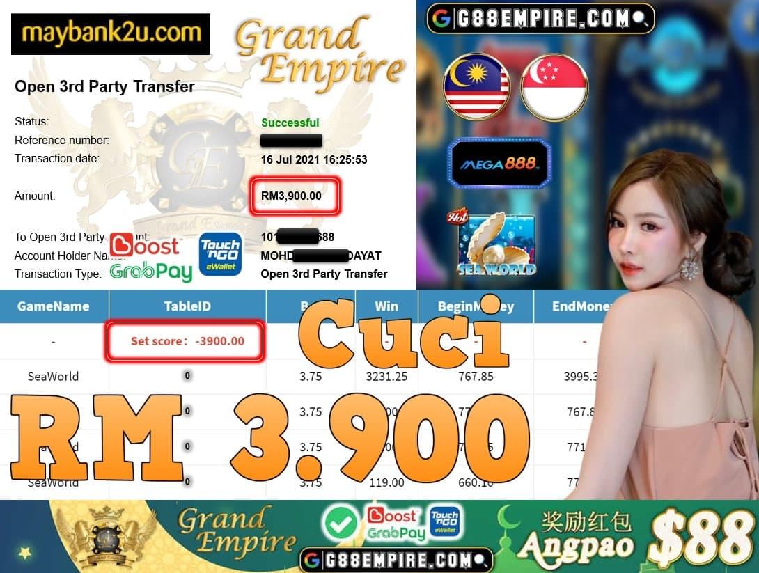 MEGA888 - SEAWORLD CUCI RM3,900!!!