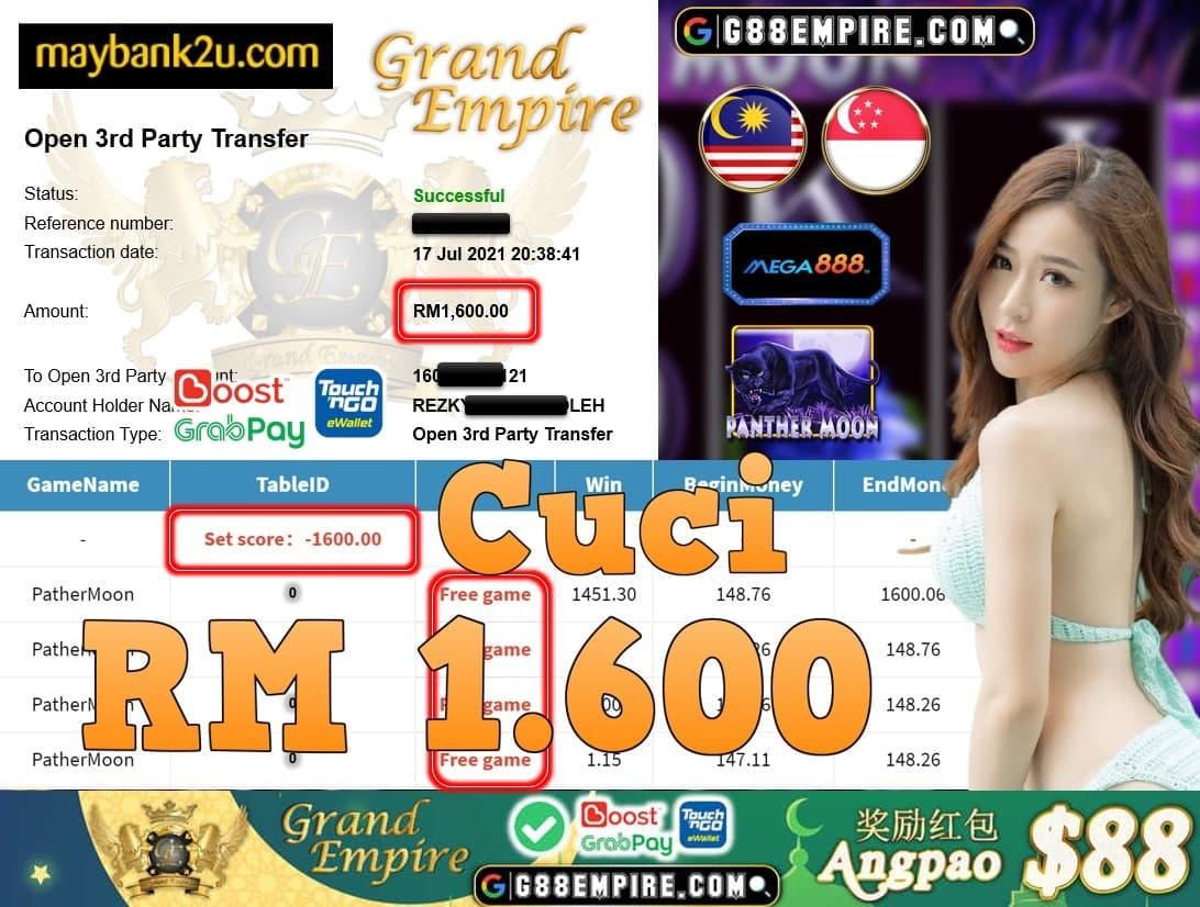 MEGA888 - PANTHERMOON CUCI RM1,600!!!