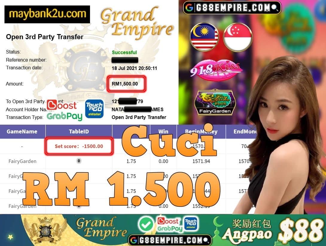 918KISS ORI - FAIRYGARDEN CUCI RM1,500!!!
