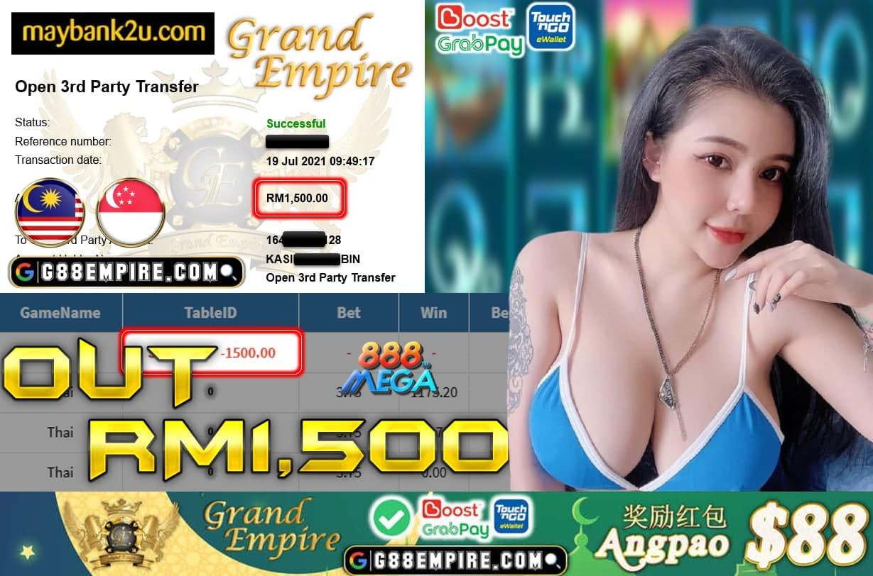 MEGA888-THAI CUCI RM 1.500!!!