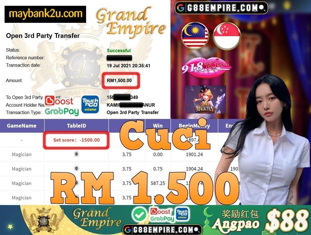 918KISS ORI - MAGICIAN CUCI RM1,500!!!