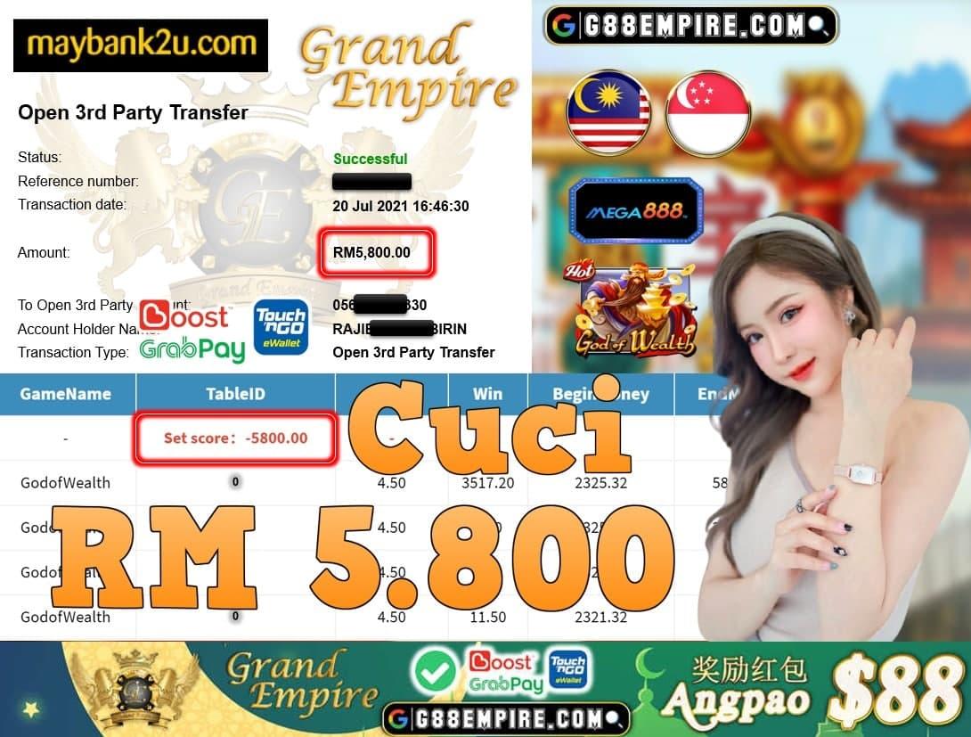 MEGA888 - GODOFWEALTH CUCI RM5,800!!!