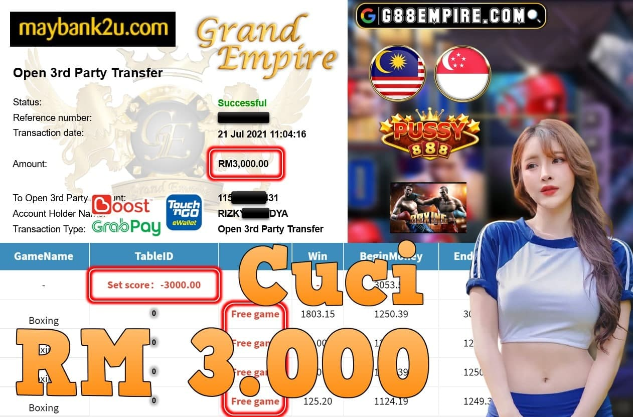PUSSY888 - BOXING CUCI RM3,000!!!