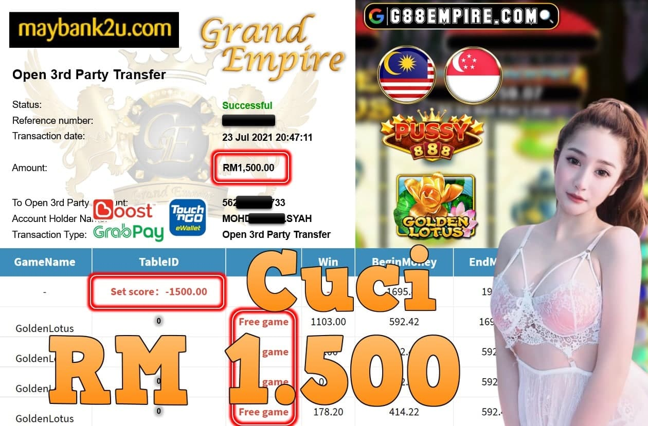 PUSSY888 - CUCI GOLDENLOTUS CUCI RM1,500!!