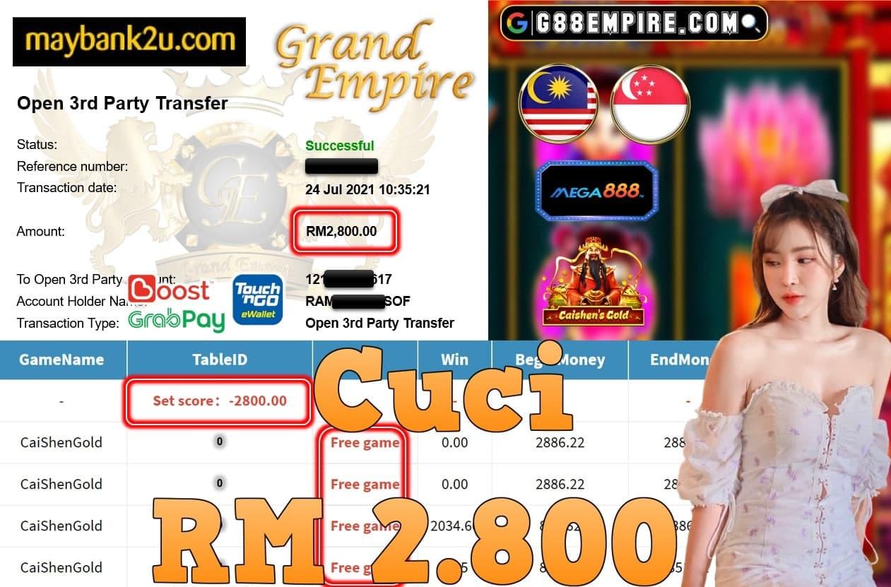 MEGA888 - CAISHENGOLD CUCI RM2,800!!!