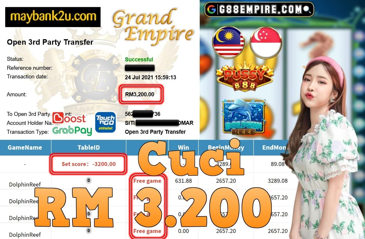 PUSSY888 - DOLPHINREEF CUCI RM3,200!!!