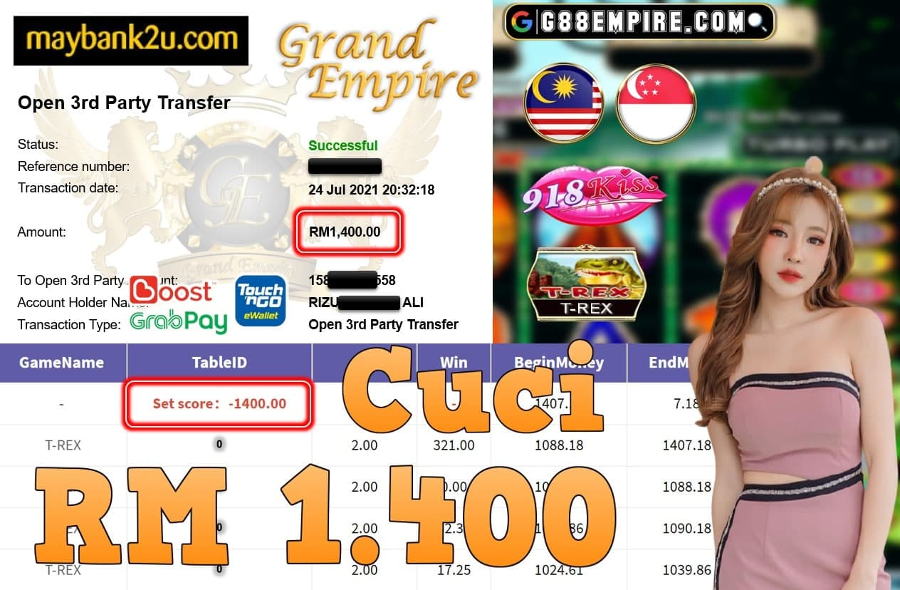 918KISS ORI - T-REX CUCI RM1,400!!!