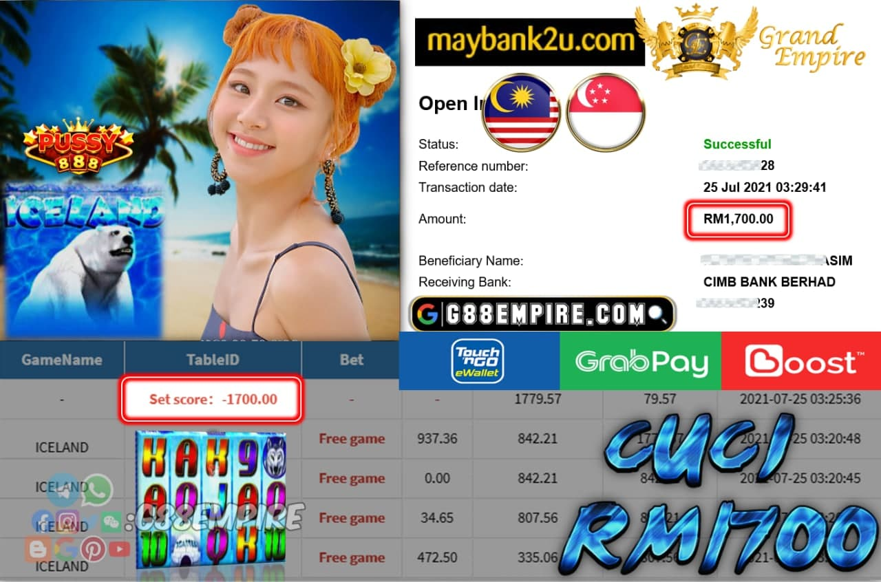 PUSSY888 - ICELAND  CUCI RM1700 !!!