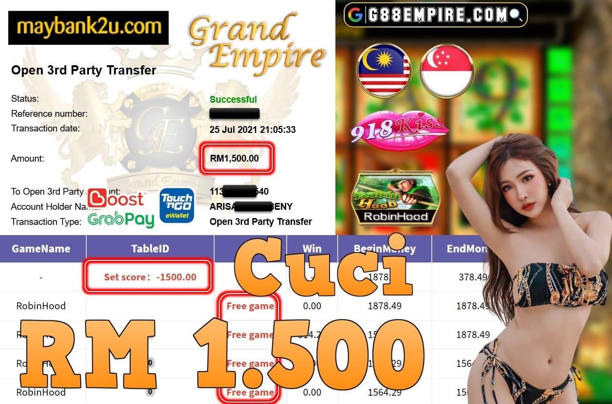 918KISS ORI - ROBINHOOD  CUCI RM1,500!!!