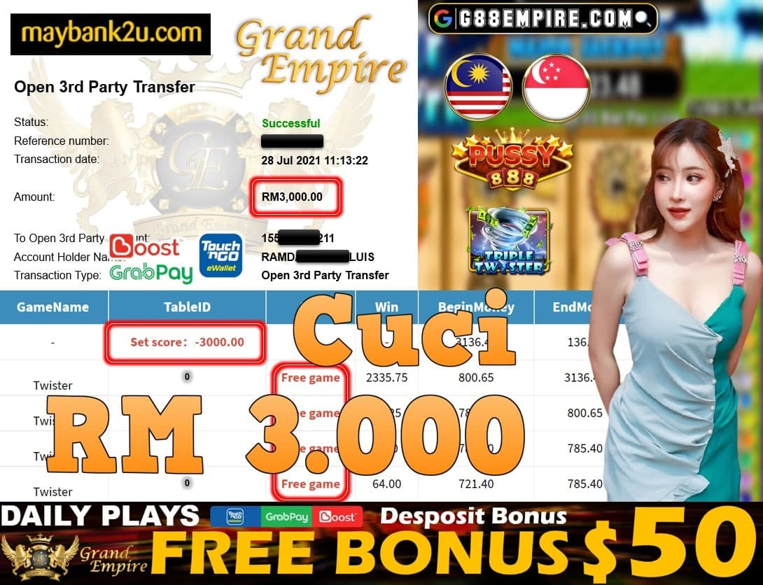 PUSSY888 - TWISTER CUCI RM3,000!!!