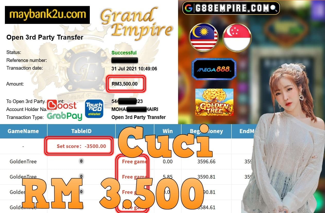 MEGA888 - GOLDENTREE CUCI RM3,.500!!!