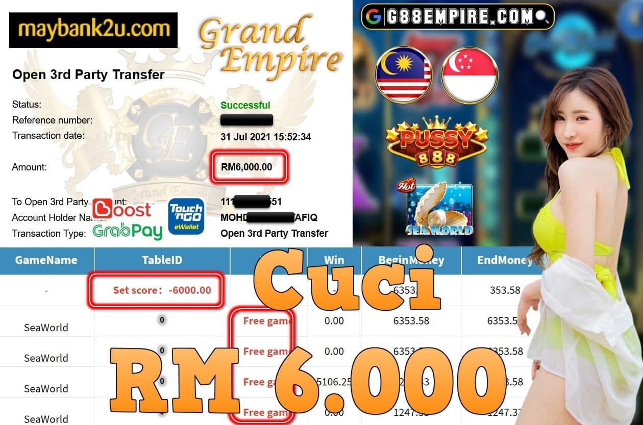 PUSSY888 - SEAWORLD CUCI RM6,000!!!