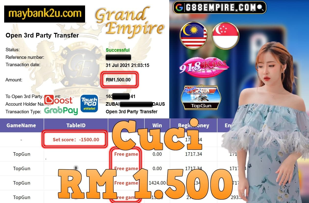 918KISS ORI - TOPGUN CUCI RM1,500!!!