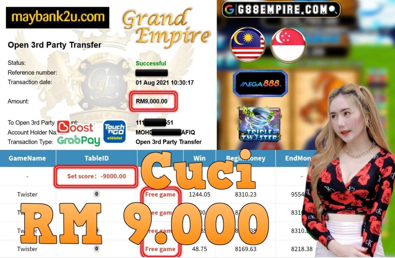 MEGA888 - TWISTER CUCI RM9,000!!!
