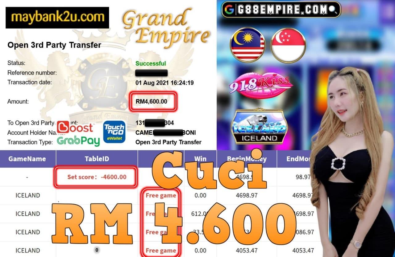 918KISS ORI - ICELAND CUCI RM4,600!!!