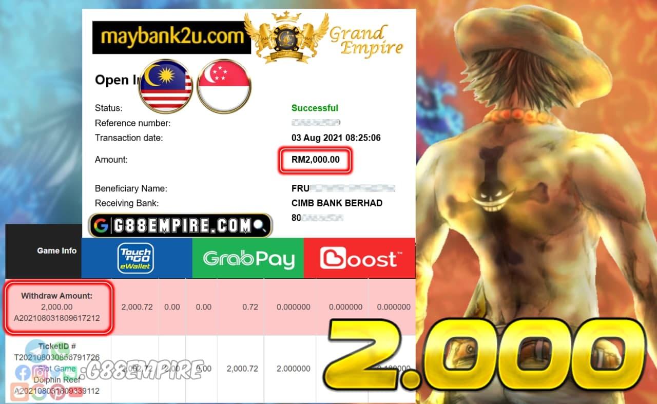 ACE333 - DOLPHIN REEF CUCI RM 2.000!!!