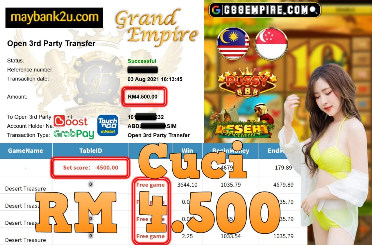 PUSSY888 - DESERT TREASURE CUCI RM4,500!!!