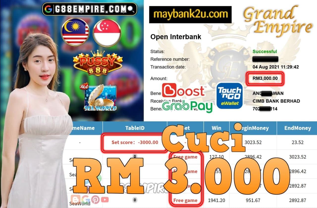PUSSY888 - SEAWORLD CUCI RM3,000!!!