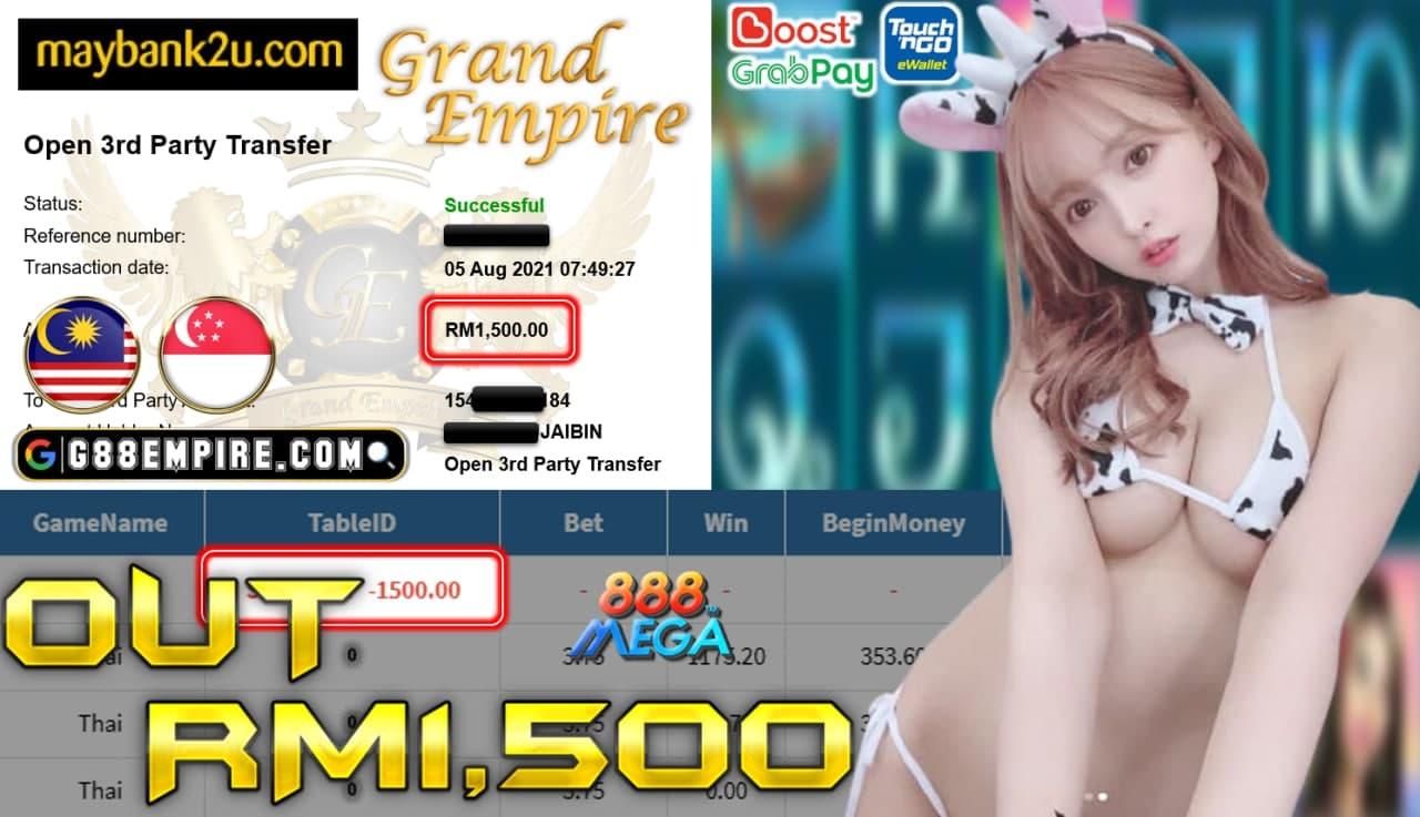 MEGA888 - THAI CUCI RM 1.500!!!