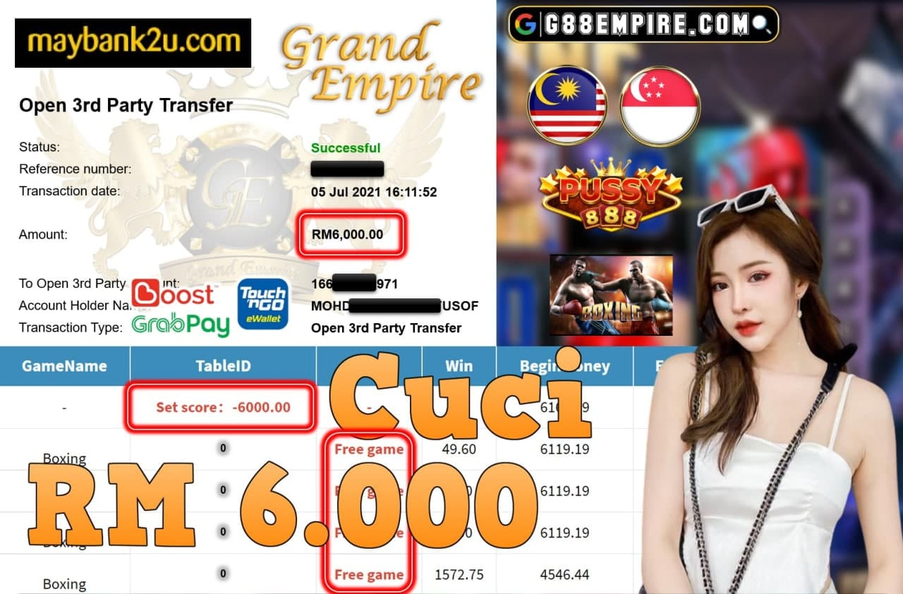 PUSSY888 - BOXING CUCI RM6,000!!!
