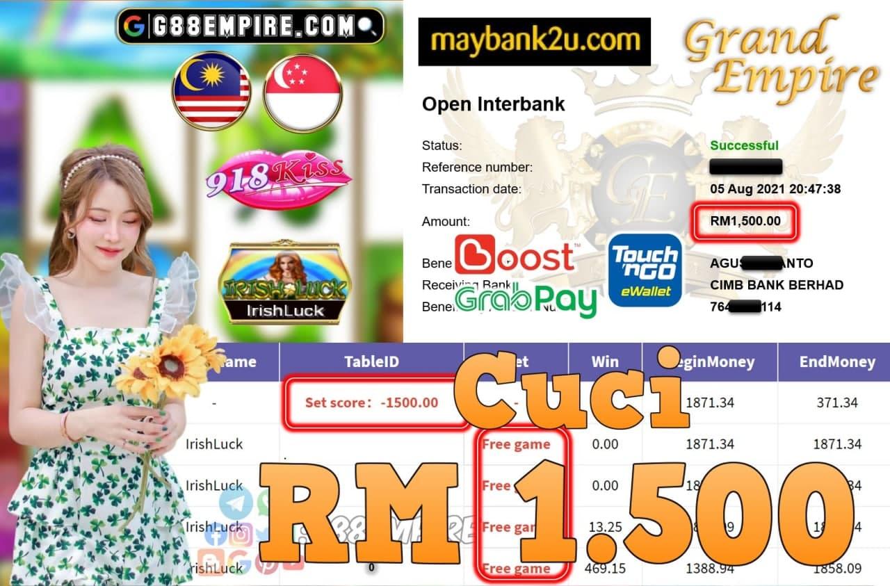 918KISS ORI - IRISHLUCK  CUCI RM1,500!!!