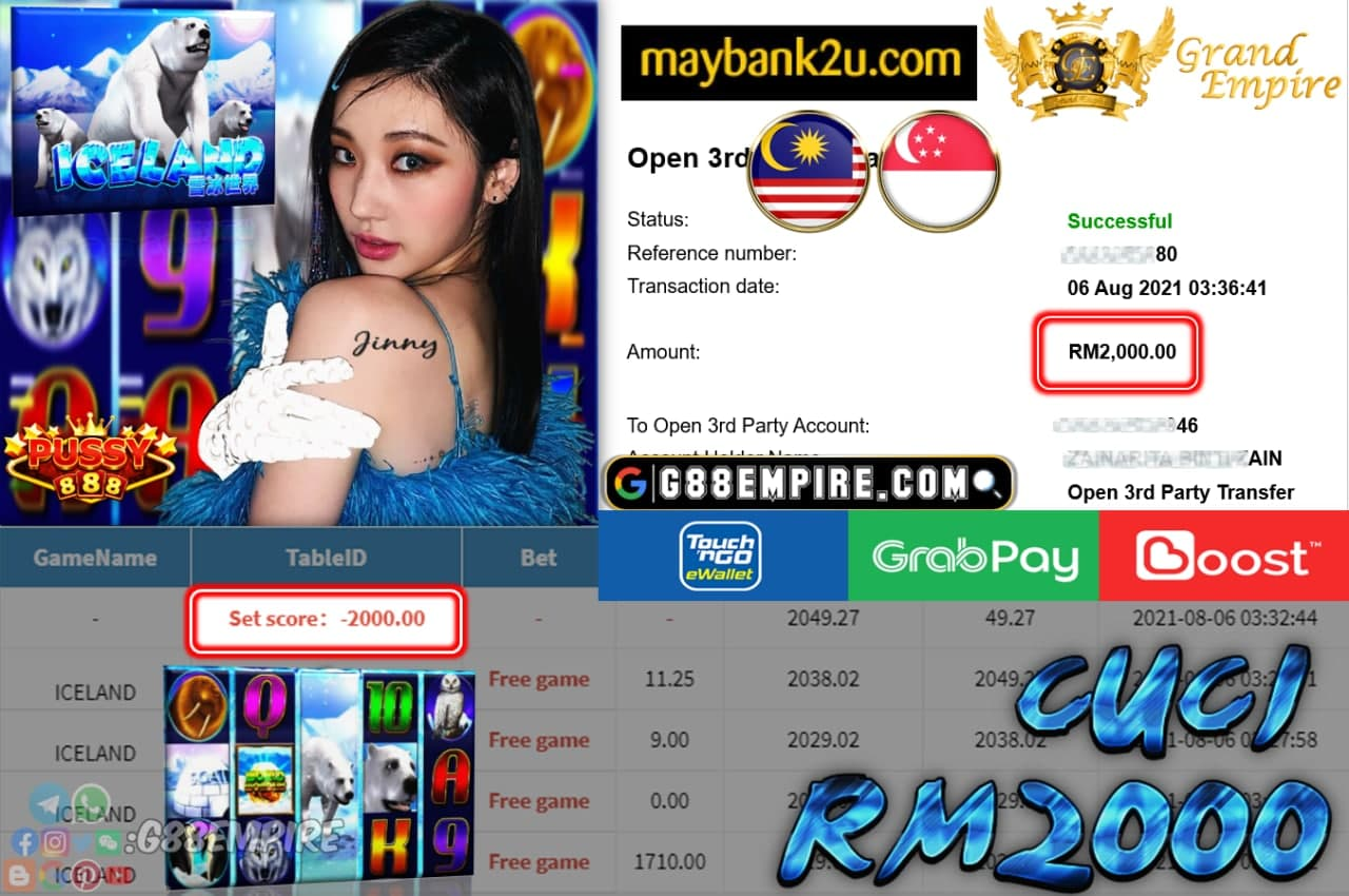 PUSSY888 - ICELAND CUCI RM2,000!!!