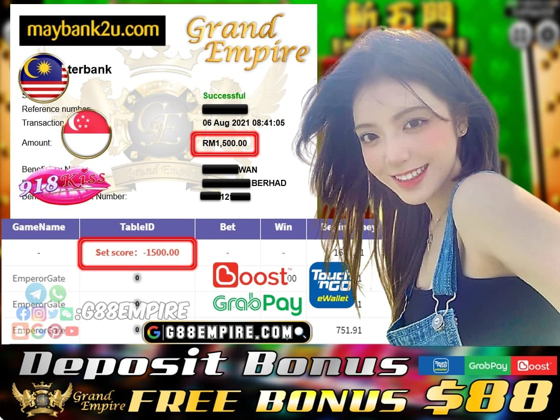 KISS918 - EMPERORGATE CUCI RM 1.500!!!