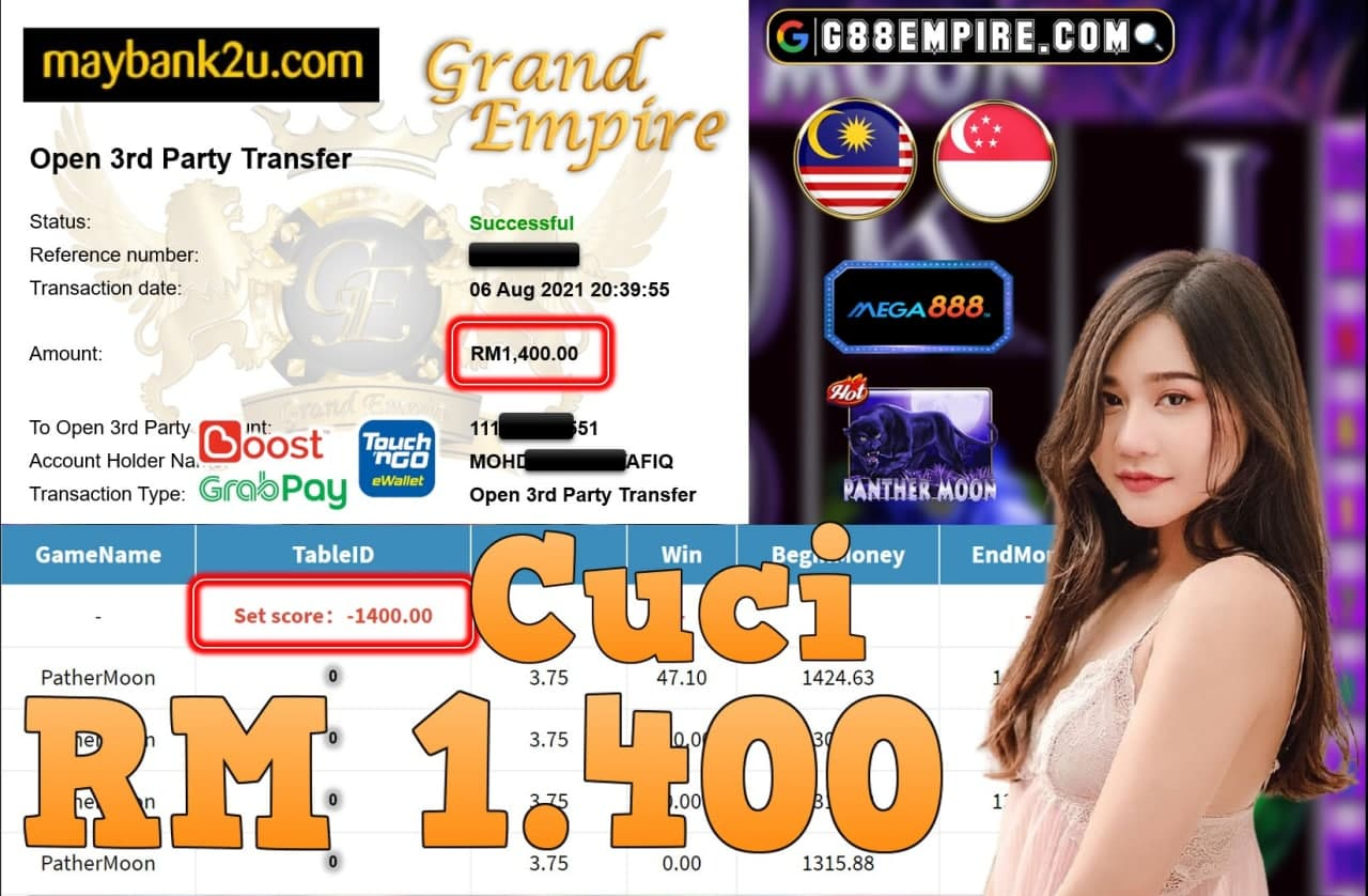 MEGA888 - PANTHERMOON CUCI RM1,400!!!