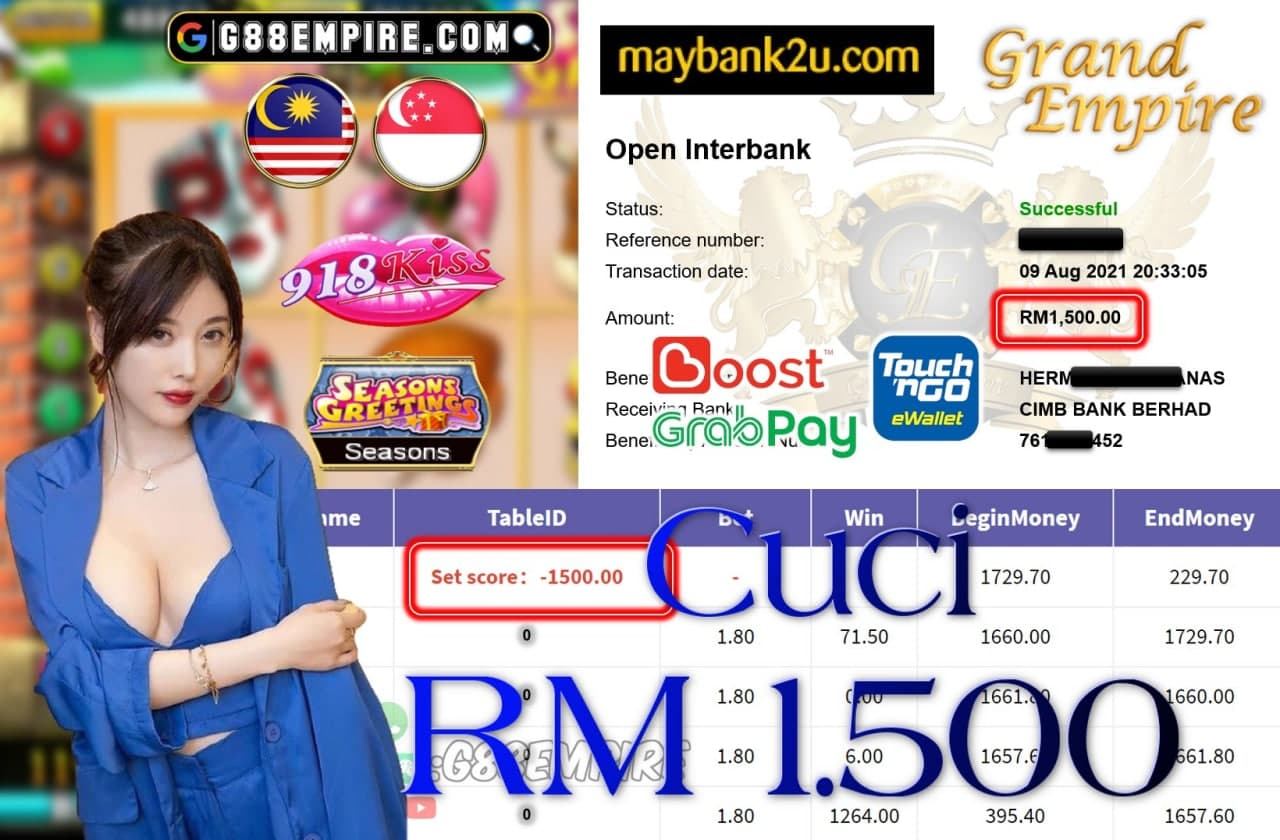 918KISS ORI - SEASONS CUCI RM1,500!!!