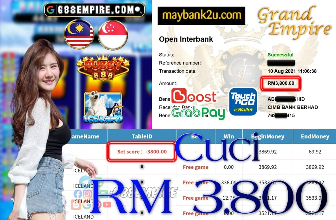 PUSSY888 - ICELAND CUCI RM3,800!!!