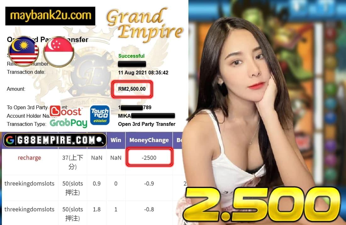 KISS+ - THREEKINGDOMSLOTS CUCI RM 2.500!!!!