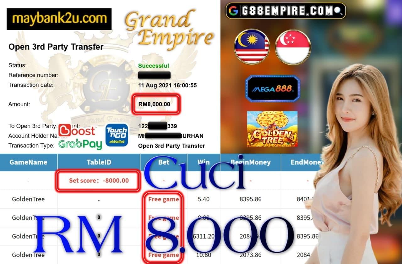 MEGA888 - GOLDENTREE CUCI RM8.000!!!