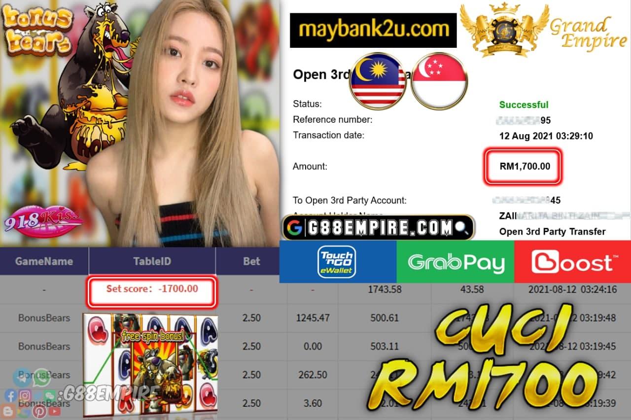 918KISS - BONUSBEARS CUCI RM 1.700!!!!