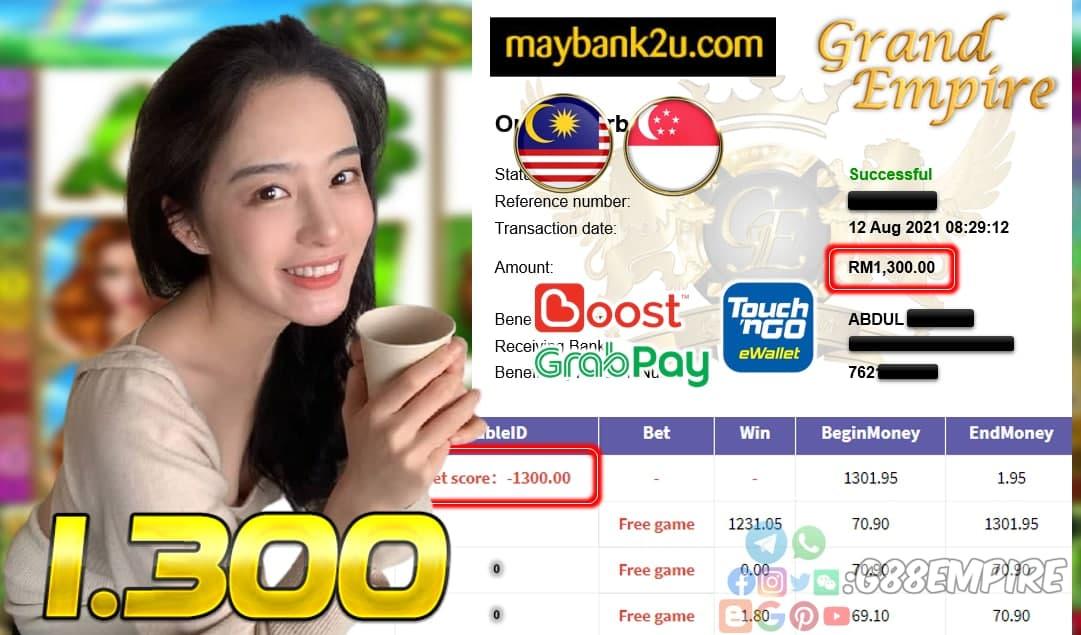 KISS918 - IRISHLUCK CUCI RM 1.300!!!