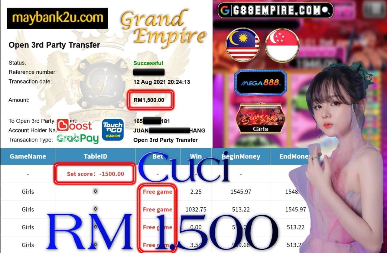 MEGA888 - GIRLS CUCI RM1,500!!!