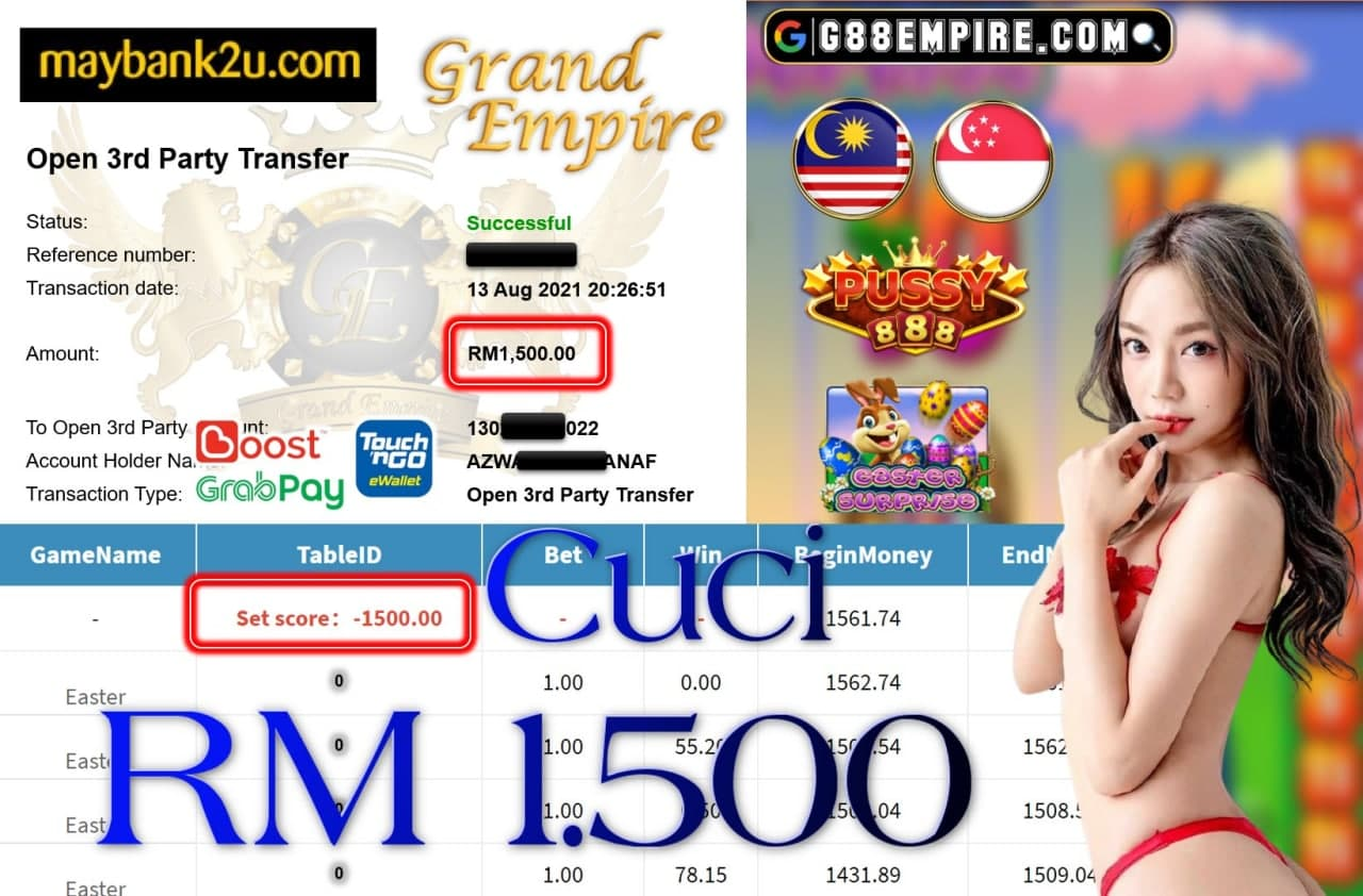 PUSSY888 - EASTER  CUCI RM1,500!!!