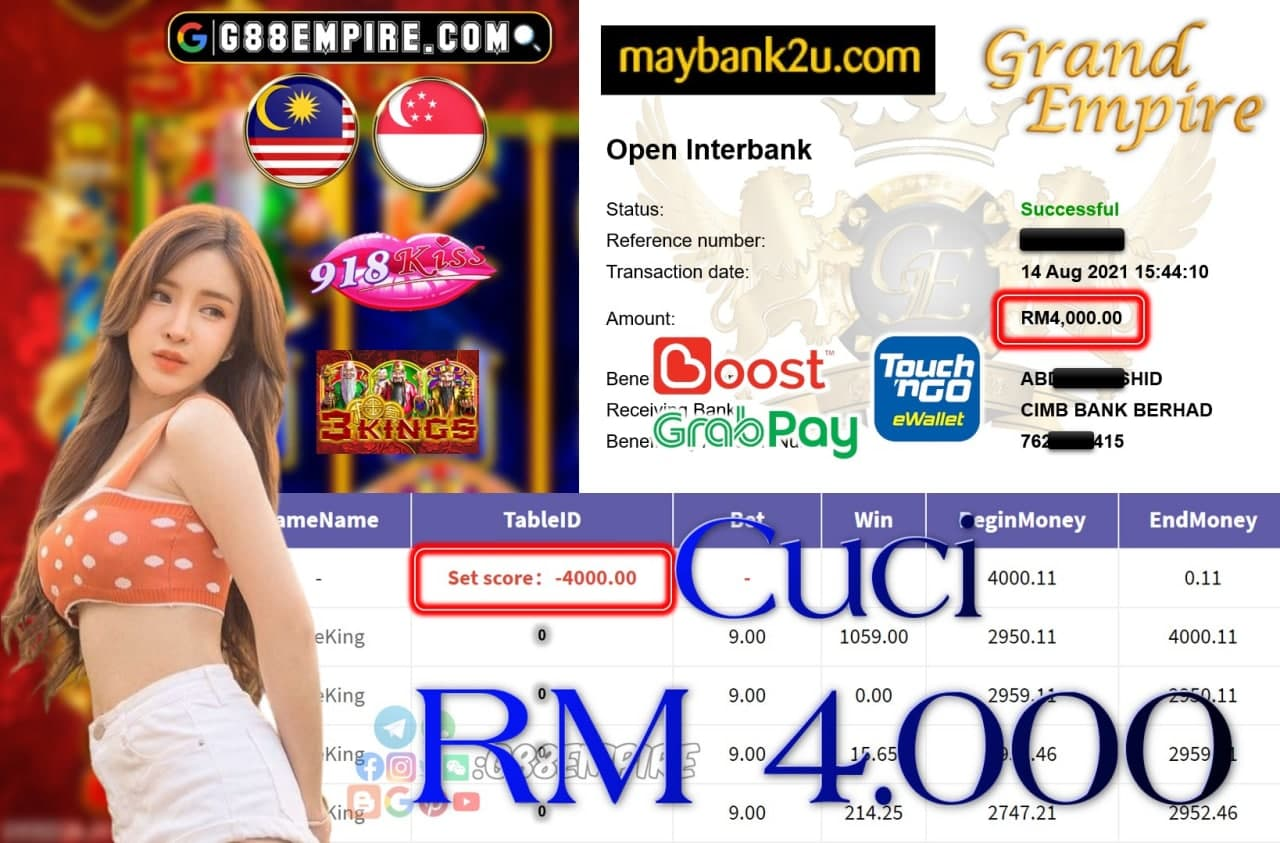 918KISS ORI - THREEKING CUCI RM4,000!!!