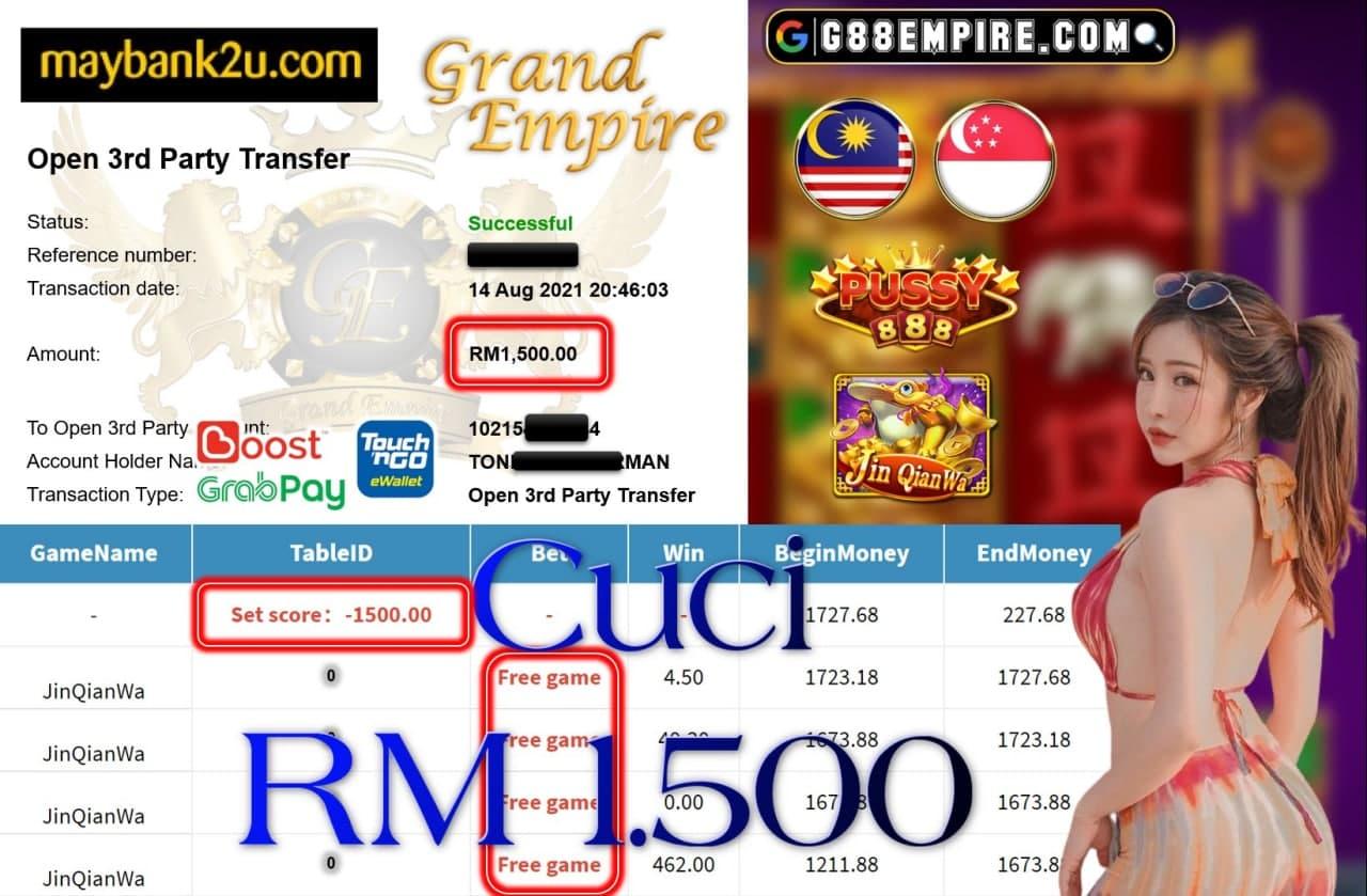 PUSSY888 - JINQIANWA CUCI RM1,500!!!